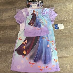 Disney Princess Nightgown with Doll Gown